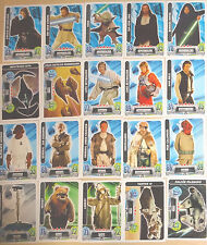 Cartas Cromos Star Wars Carrefour Force Attax  (Usadas por sacar del sobre)