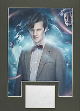 MATT SMITH Signed 12x9 Photo Display DR WHO DALEKS COA