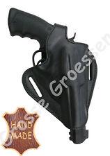 Revolverholster universal -Schwarz- f. gr. Revolver (S&W 686) -Leder-Handarbeit