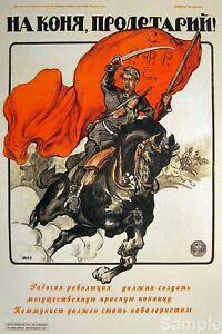 Vintage Russian Soviet Propaganda Patriotic Poster Retro USSR Print A4
