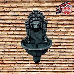 Garden Wall Water Feature Large Drinking Fountain Bird Bath Antique Patio Decor