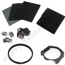 FULL ND2 4 8 filter+82mm Adapter Ring+Holder for Cokin P Series kit +Case