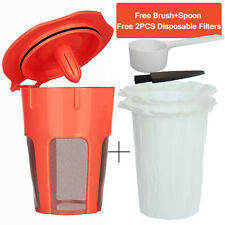 BRBHOM Reusable K Carafe Coffee Filter Pod Refillable Large K Cup Keurig 2.0