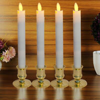 6Pcs Electric LED Candles Flickering Flameless Battery Candle Light + Remote