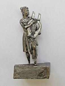 "1/30 Erato Greek Myth Muse Girl Tin Metal Figure Handmade 65 mm / 2,5"" NEW"