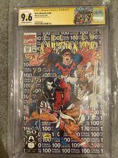 The New Mutants #100 1991 Marvel CGC SS 9.6 Stan Lee 1st Print X-FORCE Deadpool