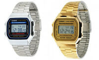 Casio Mens Digital Quartz Alarm Calendar 7Yr Battery Stainless Steel Watch A168W