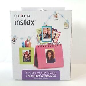 Fuji Film Instax 4 Piece Photo Accessory Kit Clip Lights Frame Album Organizer