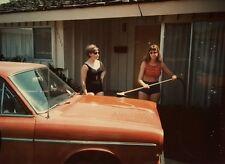 VINTAGE CA GIRLS CAR WASH ARTISTIC SUMMER VERNACULAR PHOTOGRAPHY POLAROID PHOTO