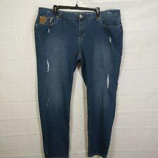 ZANADI Women's Plus Med Wash Low Rise Reg Fit Tapered Leg Stretch Jean size 22W