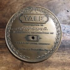 Vintage Yale & Towne Mfg. Co. Lock Years Of Service Brass Employee Award