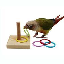 Wood Plastic Bird Parrot Platform Plastic Ring Intelligence Training Chew Toy.