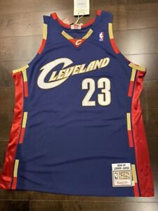 LEBRON JAMES AUTHENTIC MITCHELL & NESS 2008 BLUE JERSEY SIZE 48 (XL) NWT