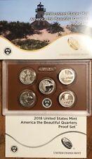 2018 US Mint America the Beautiful Quarters Proof Set - COA & Box -BRAND NEW