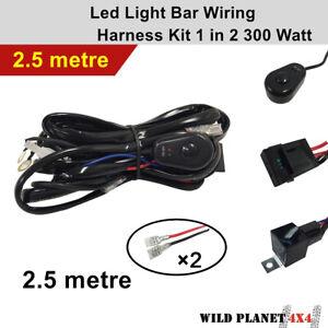 Wiring Loom Harness Kit for Led Spotlight Spot Work Driving Light Bar 40A 12V Re