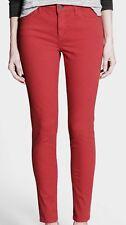 Ann Taylor Loft Burgundy Modern Skinny Jeans Stretch Women's Size 4/ 27 X 30 NWT