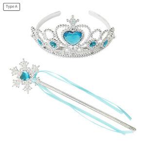 Princess Butterfly Fairy Wings+Magic Wand+Crown Scepter Set Angel Fancy Dress