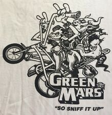 *RARE* Vintage Green Mars Punk Metal Band Tshirt - Size Large