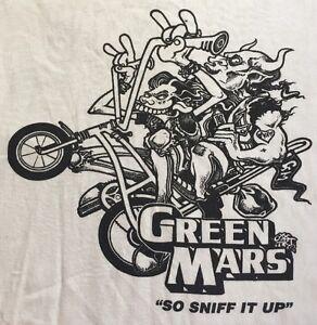 *RARE* Vintage Green Mars Punk Metal Band Tshirt - Size Large