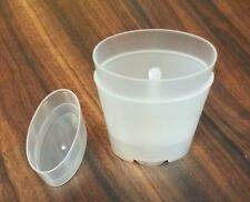 5 ct. Empty Clear Plastic Deodorant Containers - 2.5 Oz Classic Style Oval shape