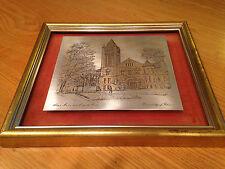 University of Illinois Alma Mater Altgeld Hall Reed & Barton 24kt Gold Etching