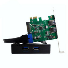 PCI Express 2 Ports USB 3.0 4 Pin 20 Pin Control Card Adapter Connector 5Gbps