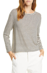 $155 VINCE PENCIL STRIPE DROP SHOULDER SWEATER SIZE XS XSMALL