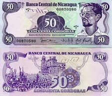 Nicaragua 50 Cordobas Banknote World Paper Money Unc Currency Pick p149 1984