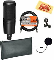 Audio-Technica AT2020 Cardioid Condenser Microphone Bundle