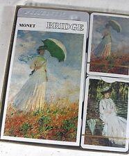 PIATNIK BRIDGE Gift SET Double Deck Playing Cards MONET Woman with Umbrella
