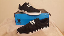 VOX MONO BLACK SWAYZEE SKULLS UK SIZE 10 NEW AND BOXED SKATEBOARDING BMX C1RCA