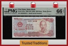 Tt Pk 101a 1988-1989 Vietnam 500 Dong Ho Chi Minh Pmg 66 Epq Gem Uncirculated