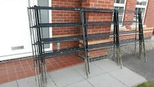 More details for steel traditional railing panel, galvenised, black spray painted, good condition