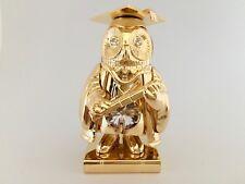 "SWAROVSKI CRYSTAL ELEMENTS ""Graduation Owl"" FIGURINE - ORNAMENT 24KT GOLD PLATED"