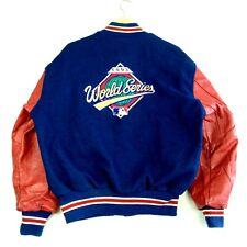 Mens USA MLB World Series 1993 Varsity Baseball Jacket - Red Blue -  Size L