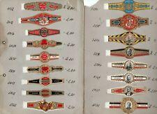 49 Deutsche   Zigarren Ringe / Gebrüder Weigang