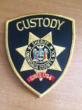 PATCH POLICE SHERIFF ONONDAGA COUNTY - CUSTODY - NY NEW YORK state