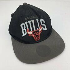 Vintage Chicago Bulls Baloncesto Gorra Gorro Negro y Rojo