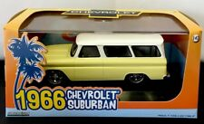 GREENLIGHT 1966 CHEVY SUBURBAN YELLOW PAINT W / WHITE TOP FREE SHIP 1:43 SCALE