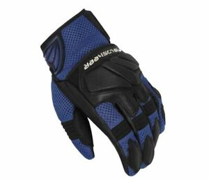 Mens Fieldsheer Sonic Air 2.0 Vented Leather Motorcycle Gloves -  Blue and Black