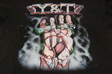 Y&T 1987 TOUR CONTAGIOUS CONCERT T-SHIRT XL (VG) TRUE VINTAGE LONG OOP MEGA RARE
