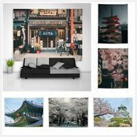 Japanese Architecture Street Tapestry Art Wall Hanging Cover Poster