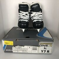 Bauer Supreme One.4 Youth Ice Hockey Skates Size Y7R Black Pre-owned