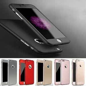Hülle für iPhone 8 8Plus Schutz 360 Grad Handy Tasche Case Full Cover Bumper Etu