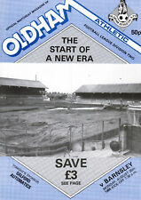 1986/87 Oldham Athletic v Barnsley, Division 2 -1st on plastic pitch, PERFECT