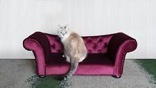 Custom made soft velvet luxury cat-dog bed