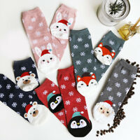 2/12/24x Fall&Winter Women Knee-High Cotton Sock Animal Printed Warm Hosiery Lot