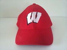 """Wisconsin Badgers """"W"""" Red/White Adjustable Strapback Hat - Captivating Headgear"""