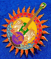 SINGAPORE SUN LOGO 2001 GUITAR MERLIONS YIN & YANG WAVES Hard Rock Cafe PIN LE