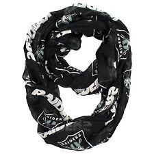 Oakland Raiders NFL Sheer Infinity Logo Scarf ~ NEW
